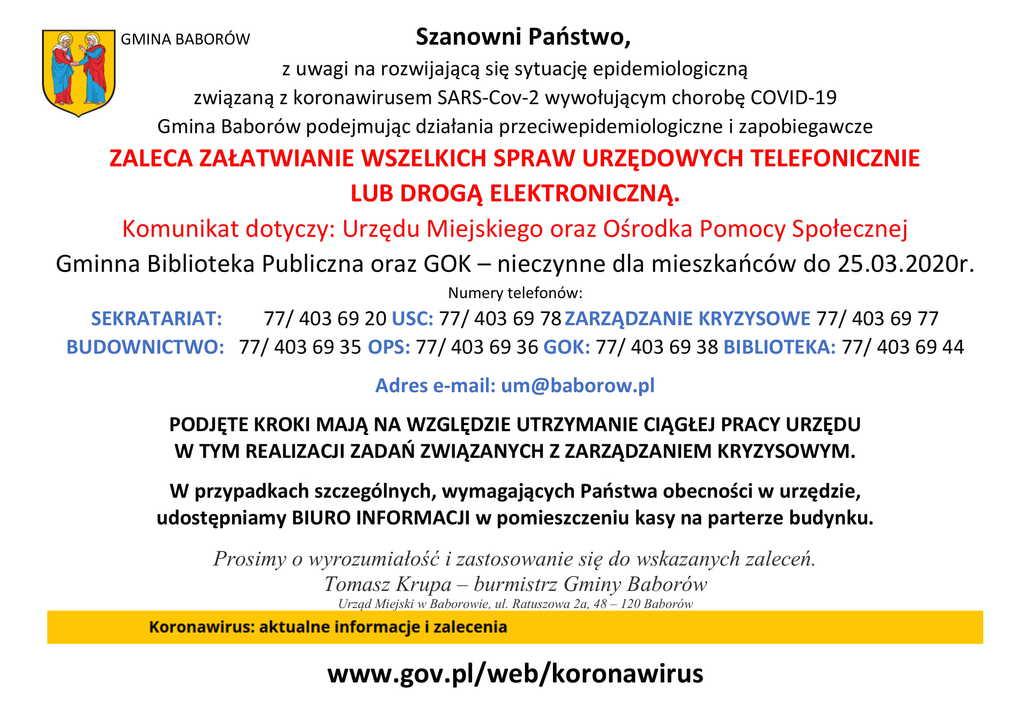 Komunikat Gmina Baborów koronawirusD.jpeg