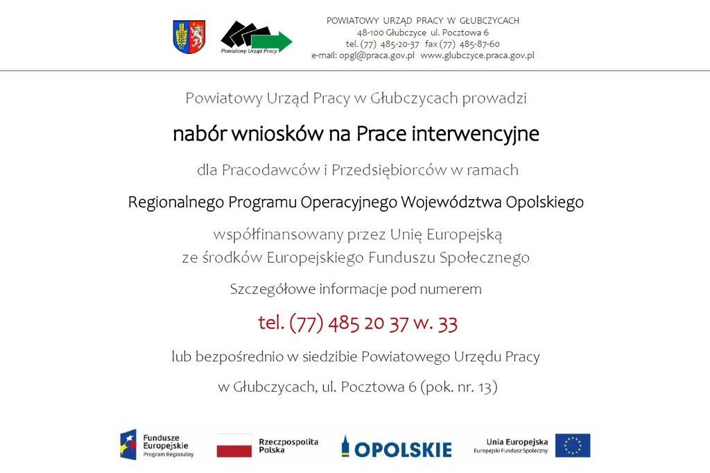 Plakat - nabĂłr wnioskĂłw na Prace interwencyjne.jpeg
