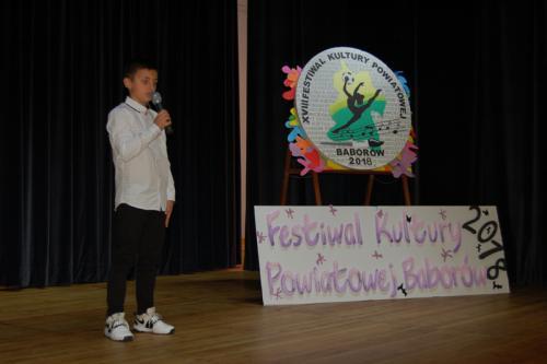 Galeria XVIII Festiwal Kultury Powiatowej - Konkurs recytatorski Baborów 09.10.2018 r.